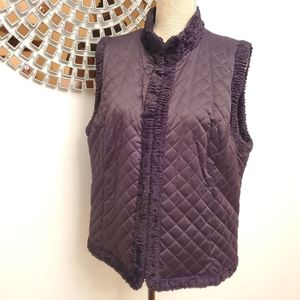 Jackets & Blazers - Reversible black vest size Large